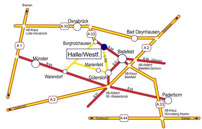 Anfahrt Gerry Weber Stadion©Stadt Halle (Westf.)