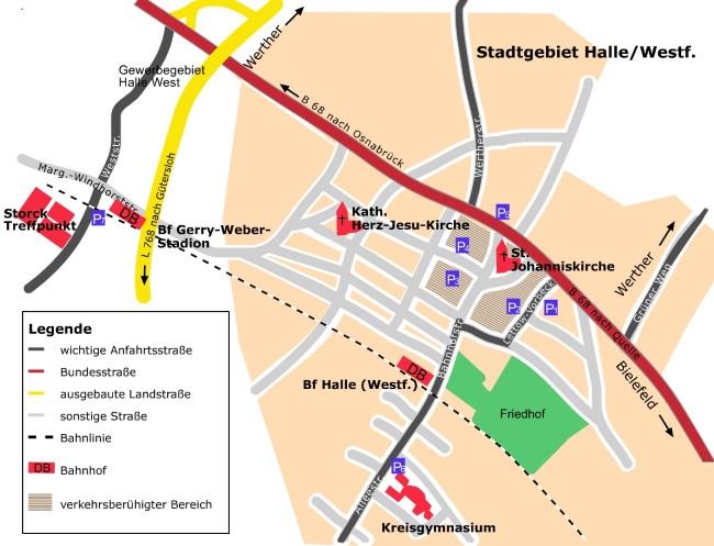 Anfahrt GWS©Stadt Halle (Westf.)