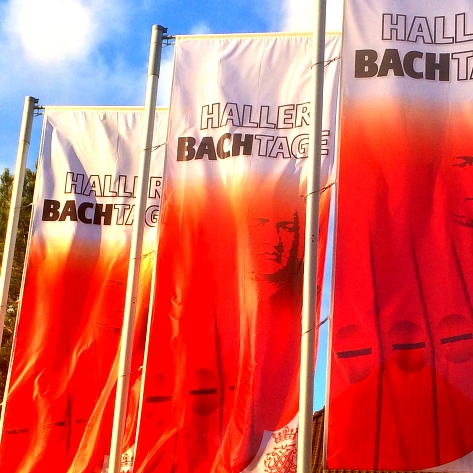 53. Haller Bach-Tage 2015 (Fahnen) © Stadt Halle (Westf.)