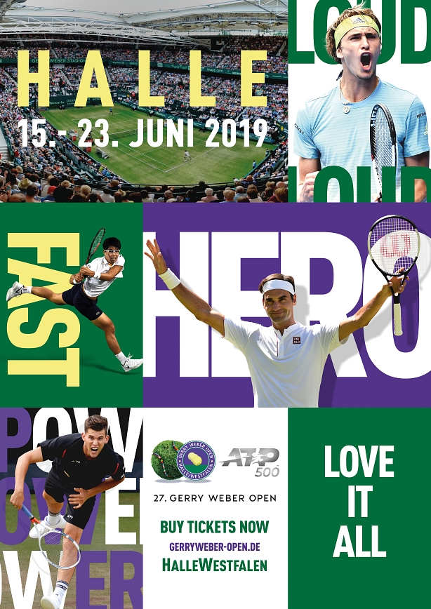Plakat Gerry Weber Open 2019 © Gerry Weber Open